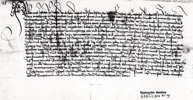 Geschichtliche - Bittbrief von Christoffel Marschalk zu Waltershausen
