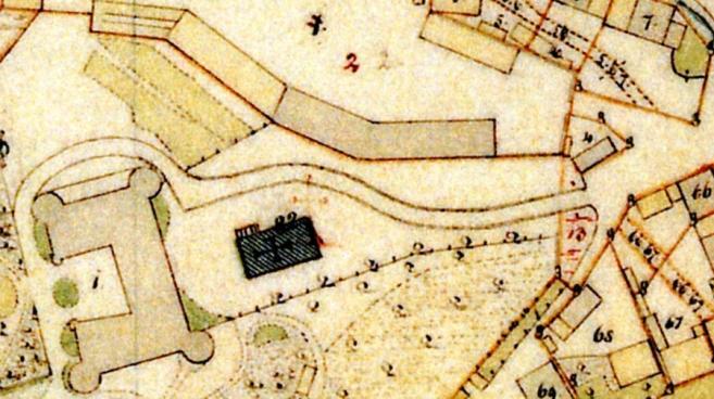Geschichte der Sankt Georgskirche - Alte Karte von Waltershausen