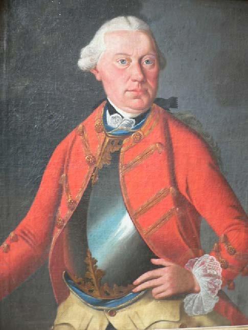 Geschichte der Sankt Georgskirche Waltershausen - Gemälde von Johann Friedrich Philipp Marschalk v. O.