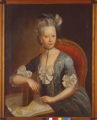 Geschichte der Sankt Georgskirche Waltershausen - Gemälde der jungen Frau Charlotte Sophia Marschalk v. O