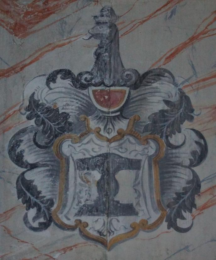 Historie der Sankt Georgskirche Waltershausen - Gemälde des Wappens des Rittergeschlechtes der Marschalke von Ostheim