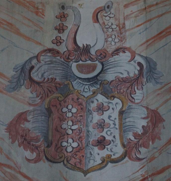 Historisches über die St Georgskirche Waltershausen - Gemälde des Wappens der Familie von Rosenau