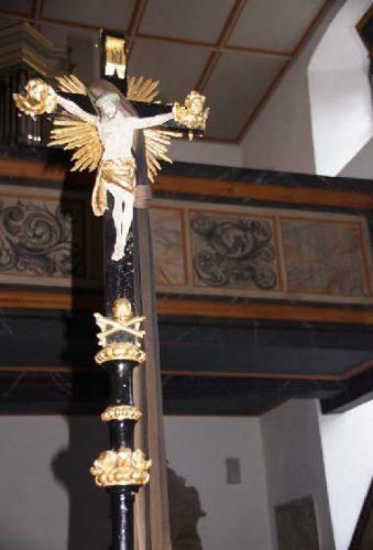 St. Georgskirche Saal an der Saale - altes Vortragskreuz