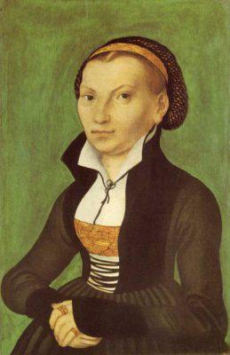 Geschichte der Sankt Georgskirche Waltershausen - Gemälde einer Frau - Katharina von Bora - von Lucas Cranach dem Älteren, 1526